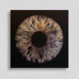 irisfotografie einzel quadrat alu-dibond gebuerstet