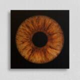 irisfotografie einzel quadrat alu-dibond matt