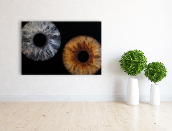 irisfotografie doppel acryl-glas