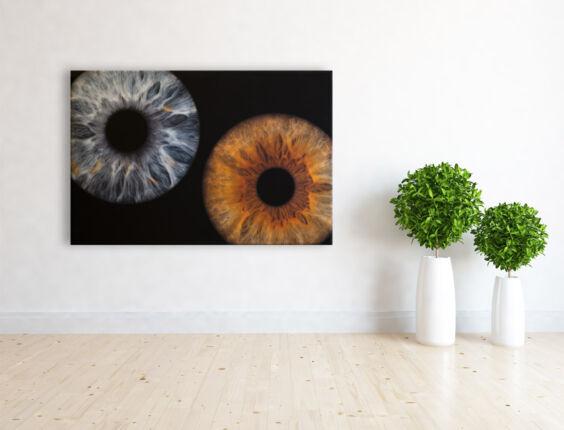irisfotografie doppel leinwand 4cm