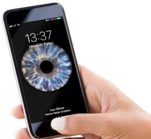 irisfotografie als Smartphone Hintergrundbild